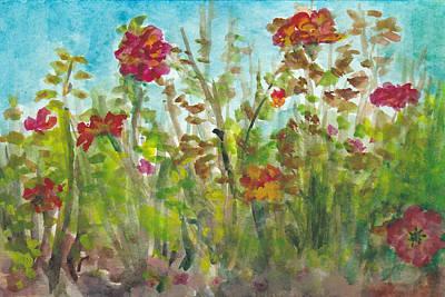 Rainbow Sorbet In Early Fall Art Print by Lin-Lin Mao