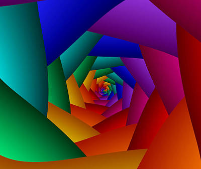 Digital Art - Rainbow Spiral by Ruth Moratz