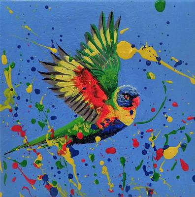 Painting - Rainbow Splash by Anne Gardner