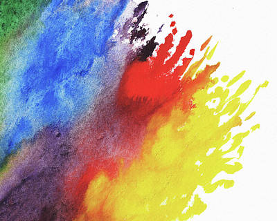 Painting - Rainbow Splash Of Watercolor by Irina Sztukowski