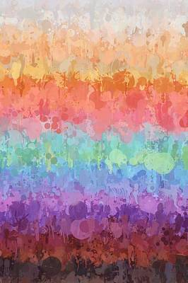 Multicolored Digital Art - Rainbow Splash by Art Spectrum