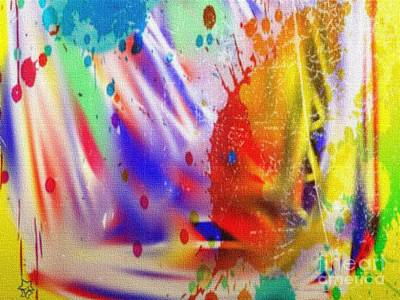 Photograph - Rainbow Splatters by Kathie Chicoine