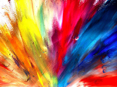 Painting - Rainbow Spray by Sumit Mehndiratta