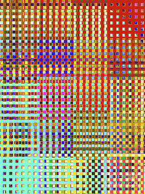 Rainbow Squared Tapestry Art Print