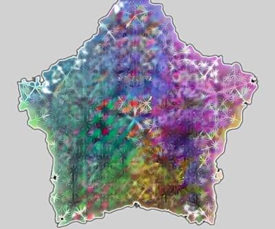 Digital Art - Rainbow Star by Andrew Herman