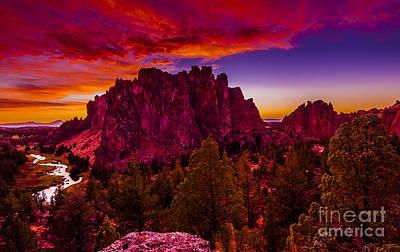 Sunset Photograph - Rainbow Sunset-2 by Adam Reisman