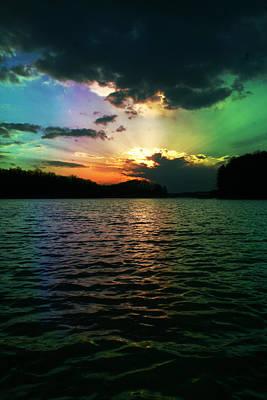 Rainbow Sunset Art Print by Adam LeCroy