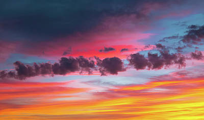 Photograph - Rainbow Sunset by Richard Goldman