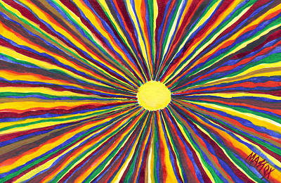 Art Print featuring the painting Rainbow Sunshine by Tim Mattox