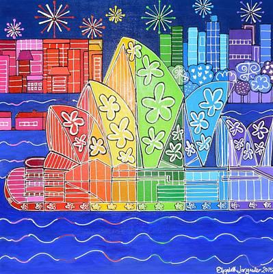 Painting - Rainbow Sydney by Elizabeth Langreiter