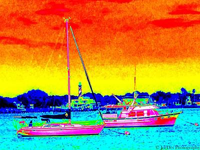 Rainbow Tide Art Print