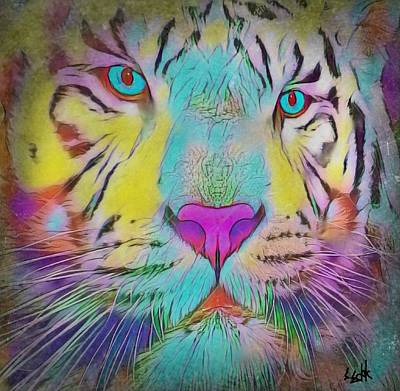 Painting - Rainbow Tiger by Susan Solak
