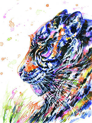 Painting - Rainbow Tiger by Zaira Dzhaubaeva
