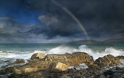 Irish Photograph - Rainbow To Heaven Shamrock Shores  by Betsy Knapp