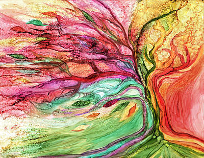 Mixed Media - Rainbow Tree by Carol Cavalaris