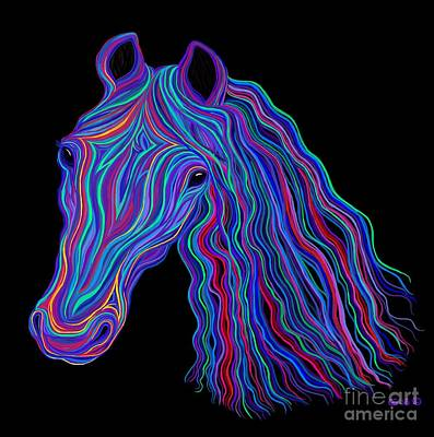 Photograph - Rainbow Tribal Horse  by Nick Gustafson