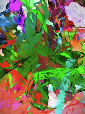Digital Art - Rainbow Tropic by Jackie VanO