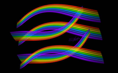Rainbow Digital Art - Rainbow Trout by Charles Stuart