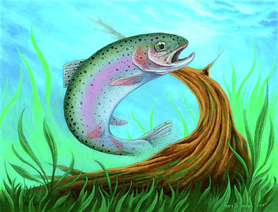 Digital Art - Rainbow Trout  by Gary Donald Sanchez