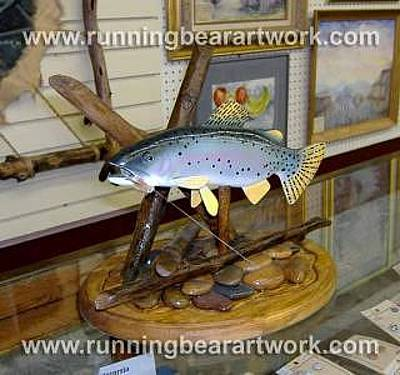 Sculpture - Rainbow Trout by Michael Meissner