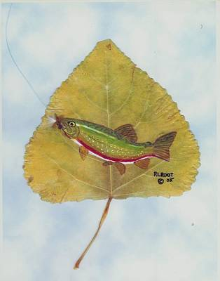 Painting - Rainbow Trout On Fly by Ralph Root