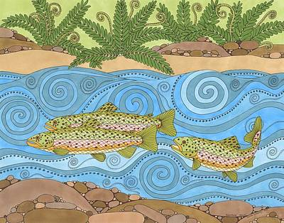 Drawing - Rainbow Trout by Pamela Schiermeyer