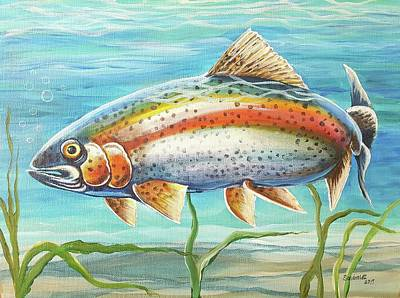 Painting - Rainbow Trout by Sandra Lett
