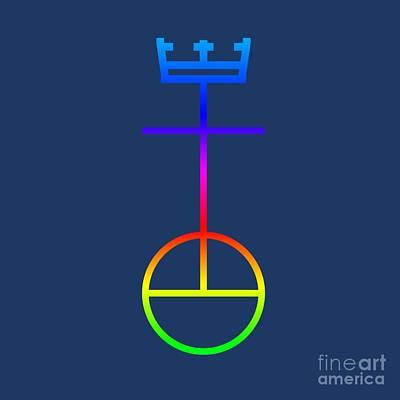 Rainbow United Church Of Christ Symbol Art Print by Frederick Holiday