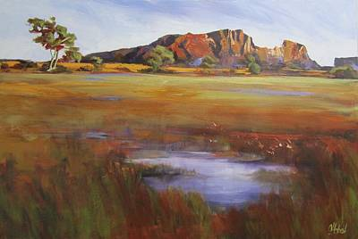Australian Open Painting - Rainbow Valley  Australia by Chris Hobel