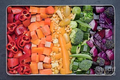 Zucchini Photograph - Rainbow Veg by Tim Gainey