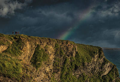 Purple Rain Photograph - Rainbow View by Martin Newman