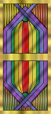 Gay Rights Wall Art - Digital Art - Rainbow Wall Hanging by Chuck Staley