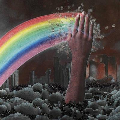 Demolition Mixed Media - Rainbow Warrior by Arnuda