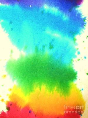 Rainbow Wash Art Print by Chandelle Hazen