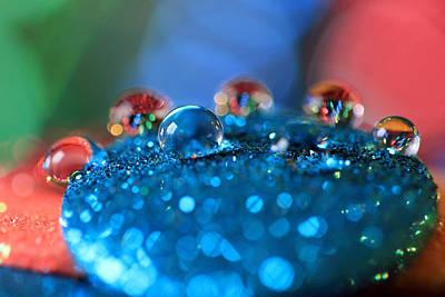 Photograph - Rainbow Water Drops by Angela Murdock