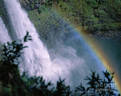 Photograph - Rainbow Waterfall by Peter French - Printscapes