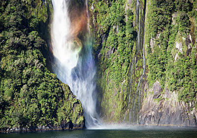 Photograph - Rainbow Waterfall by Ramunas Bruzas
