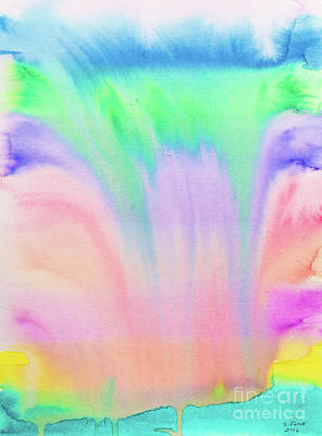 Painting - Rainbow Waterfall by Stefanie Forck