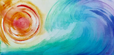 Painting - Rainbow Wave by Kathryn Rone