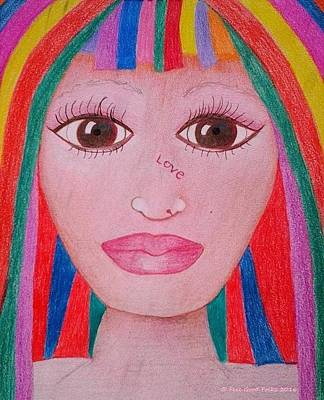 Rainbow Wig For Women Who Have Hairloss Art Print