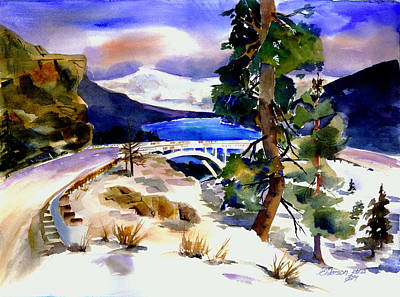 Painting - Rainbowbridge Above Donner Lake by Joan Chlarson