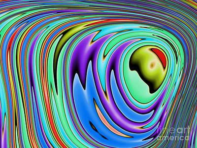 Rainbow In Abstract 02 Art Print