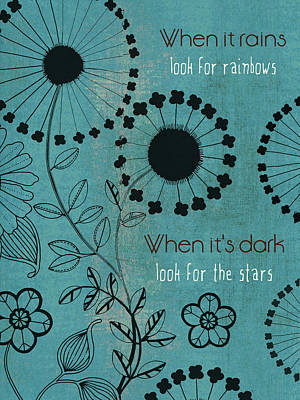 Inspirational Mixed Media - Rainbows And Stars by Marilu Windvand