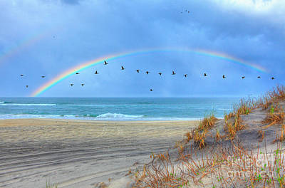 Rainbows And Wings I Art Print