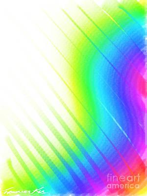 Digital Art - Rainbow's Edge by Frances Ku