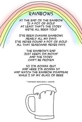 Drawing - Rainbows by John Haldane