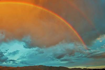 Photograph - Rainbows Over The South Sandia Mountains, New Mexico by Flying Z Photography by Zayne Diamond
