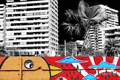 Photograph - Raindrop Graffiti At Vina Del Mar by John Rizzuto