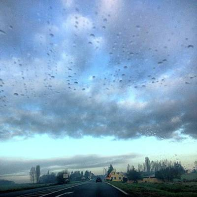 Paris Skyline Photograph - Raindrops And Clouds #clouds by Emmanuel Varnas