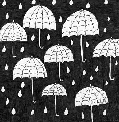 Painting - Raindrops by Lou Belcher
